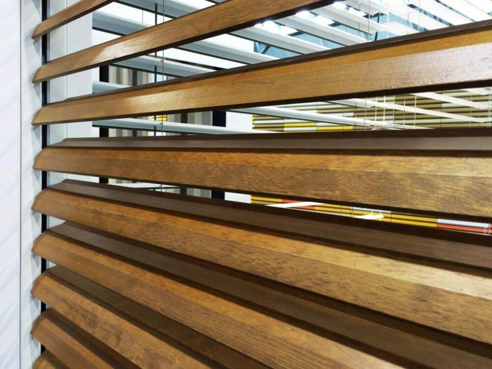 Timber louvres